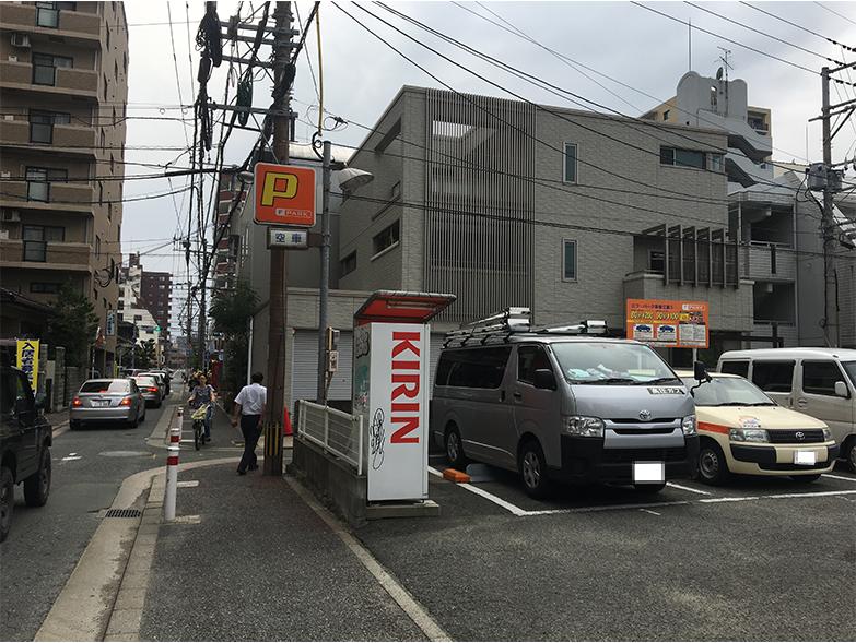 ドットカラーダンススタジオに近い六本松の駐車場エフ・パーク草香江第1の写真