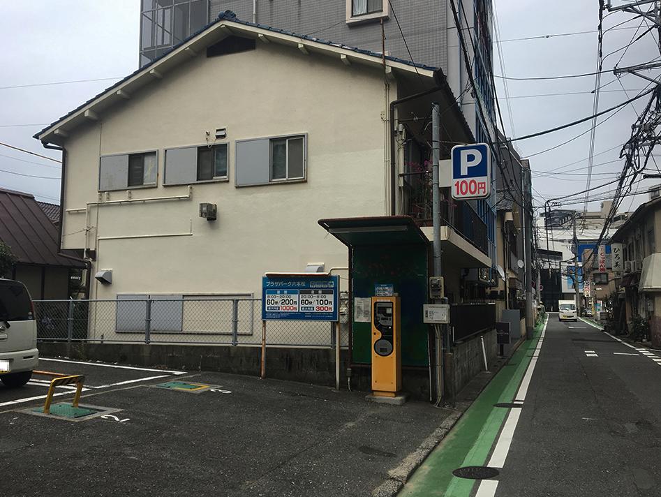 ドットカラーダンススタジオに近い六本松のプラザパーク六本松駐車場の写真